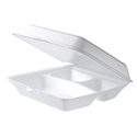 Picture of Foam 3 Compartment Dinner Clam 215x215x70-CLAM159100- (SLV-100)