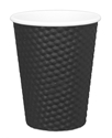 Picture of Black 12oz Dimple Coffee Cups-HCUP108100- (SLV-25)