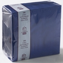 Picture of Napkin 2 Ply Luncheon Dark Blue-NAPK184050- (SLV-100)