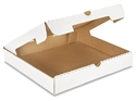 Picture of Pizza Box 13in Plain White Cardboard -PIZZ155370- (SLV-100)