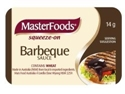 Picture of **Indent Line**BBQ Sauce Squeeze-ons Masterfoods 14gm-PORT279550- (CTN-100)