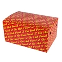 Picture of Cardboard Snackbox Family 210x140x102 056 - PRINTED Hot Food To Go-SNAK152750- (CTN-200)
