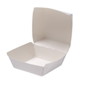 Picture of Cardboard Burger Clam White - 105mm x 100mm Base Dimensions x 90mm High-SNAK153200- (SLV-100)
