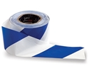 Picture of Hazard / Barricade Tape Blue/White 100m x 75mm Commissioning-WARN833210- (EA)