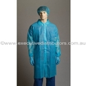 Picture of Gown Polypropylene Labcoat No Pocket BLUE -APPR495222- (CTN-100)