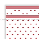 "Picture of Table Cloth/Cover Roll Paper""Red Tile Pattern"" 30mt x 1.1mt-DOYL191074- (ROLL)"