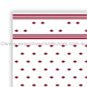 "Picture of Table Cloth/Cover Roll Paper""Wine Red Tile Pattern"" 30mt x 1.1mt-DOYL191076- (ROLL)"