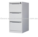 Picture of A3 Filing Cabinet - 3 Drawer Vertical - 1320mm High x 580mm Wide x 620mm-FURN358340- (EA)