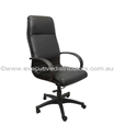 Picture of Executive Chair - 4 Position Tilt Lock  - High Back - Black Seat, Arms and Base-FURN358726- (EA)