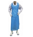 Picture of Apron Polythene Disposable 810x1250mm Blue - Hanging / Tear Off -APPR494105- (SLV-100)