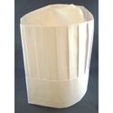 "Picture of Disposable White Chefs Hat - 9"" Tall-Vertical Pleat-adjustable headband-APPR492250- (BOX-100)"