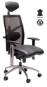 Picture of Executive Chair -Fully Ergonomic Design, High Back, Premium Black Leather - Exact Series-FURN358714- (EA)