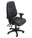 Picture of **NLA***Executive Chair -24/7 Use 150kg- Ergonomic, A Grade Leather, Heavy Duty - Black-FURN358718- (EA)