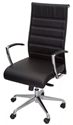 Picture of Executive Chair -Chrome arms with Outward Adjustment - High Back - Black-FURN358725- (EA)
