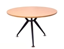Picture of 1200mm Round Timber Table Top With Black Steel Base-FURN358488- (EA)