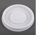 Picture of **NLA**Lid fits 4oz Paper Single Wall Hot Cup - White - Dart VL34R-CLID110492- (SLV-100)
