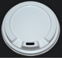 """Picture of White Sipper Lid to suit 8oz """"Beta Grip"""" Coffee Cups -CLID113546- (SLV-50)"""