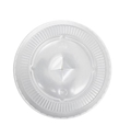 Picture of Clear Flat Lid For 12,15,18 & 22oz Tailored Plastic Cups-PLAC118650- (SLV-50)