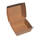 Picture of Cardboard Burger Clam Kraft Board -105mm x 102mm Base Dimensions x 85mm High-SNAK153205- (CTN-250)