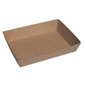 "Picture of Cardboard Food tray no.5 Kraft ""Betaboard""  255mm x 179mm Base Dimensions x 55mm High-TRAY164982- (CTN-100)"