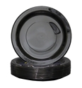 Picture of Plastic Plate Black 7in 180mm Extra Strong-PLAT090850- (CTN-500)