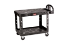 Picture of Rubbermaid Flat 2-Shelf Utility Cart Black-CLEA384738- (EA)