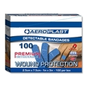 Picture of Aeroplast Premium Metal Detectable Plasters 75mm x 25mm - Blue-FAID806010- (BOX-100)