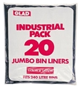 Picture of Garbage Bin Liners Glad Tuff Stuff Black 240L - 142cmx112cm-GARB025990- (ROLL-100)