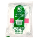 Picture of Enviro Degradable Kitchen Tidy Bin Liner Roll 18L - Clear-KITB024055- (CTN-500)