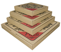Picture of Pizza Box 9in Cardboard  Printed-PIZZ155400- (SLV-50)