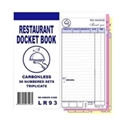 """Picture of Restaurant Docket Books Triplicate 93mm x 196mm with seperate """"""""Drinks"""""""" section 50's""""-DKTB338401- (SLV-10)"""