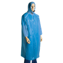 Picture of Poncho Polyethelene Long Sleeve Disposable Blue-APPR495150- (CTN-200)