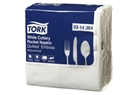 Picture of Napkin 2 Ply Dinner Quilted Emboss White with Cutlery Pocket-NAPK185390- (SLV-80)