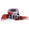 "Picture of Hazard / Barricade Tape Red/White Printed ""DANGER""  100m x 75mm-WARN833202- (EA)"