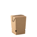 Picture of Cardboard Upright Small Chip Box Kraft Brown Board - 60mm x 60mm Base Dimensions x 105mm High-TRAY164984- (CTN-500)